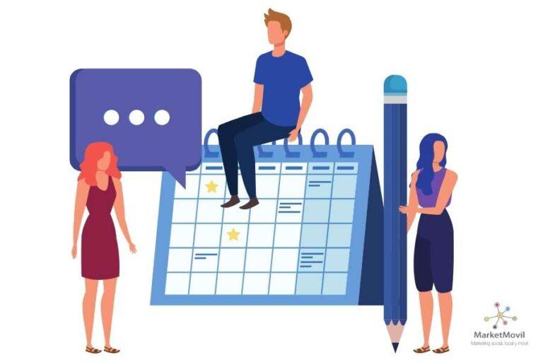calendario de publicaciones en redes sociales
